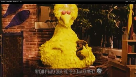 Big Bird taken from President Obama's website