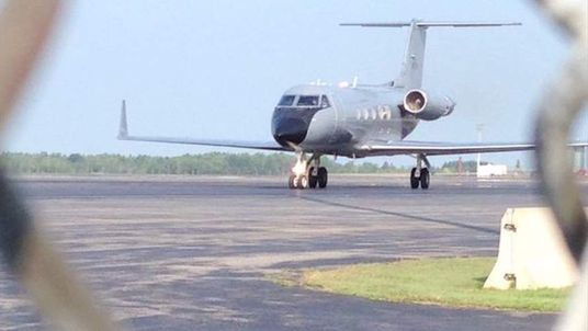 Jet carrying an Ebola sufferer arrives in the US