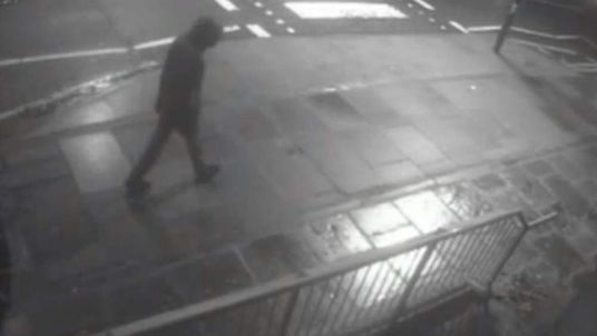 The girl's attacker was caught on CCTV moments before the attack