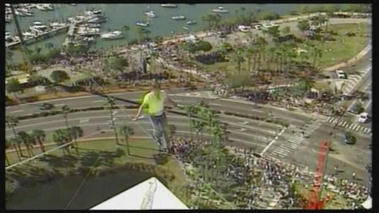 Nik Wallenda In Florida Tightrope Walk