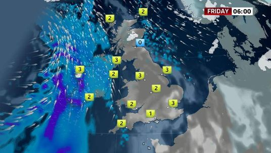 Weather forecast for Friday