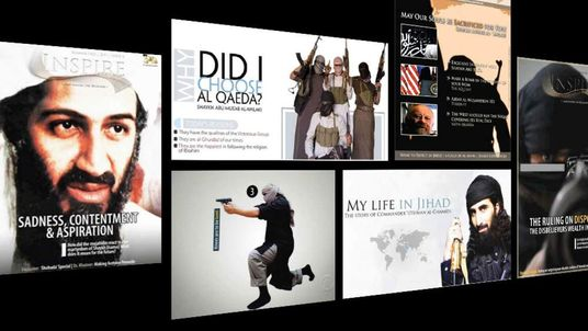 Web page showing Osama bin Laden and other extremists