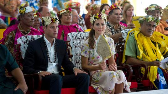 William and Kate bid farewell to the Soloman Islands