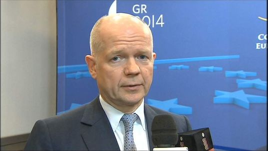 Foreign Secretary William Hague on Russia Ukraine sanctions