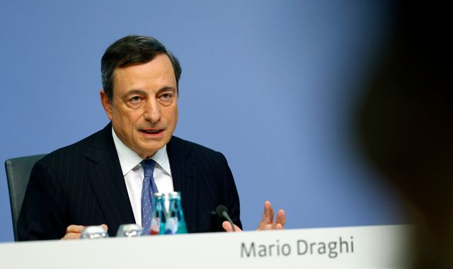 ECB extends euro stimulus but at reduced pace