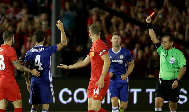 Conte Sorry For Fabregas' Red Card Tackle