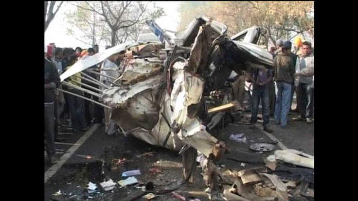Wreckage of bus crash