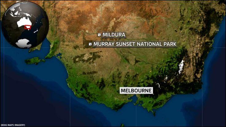 Map of Mildura and Murray Sunset National Park