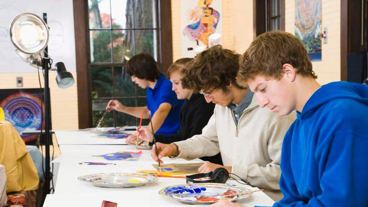 Students In Art Lesson A-levels GCSE Reforms