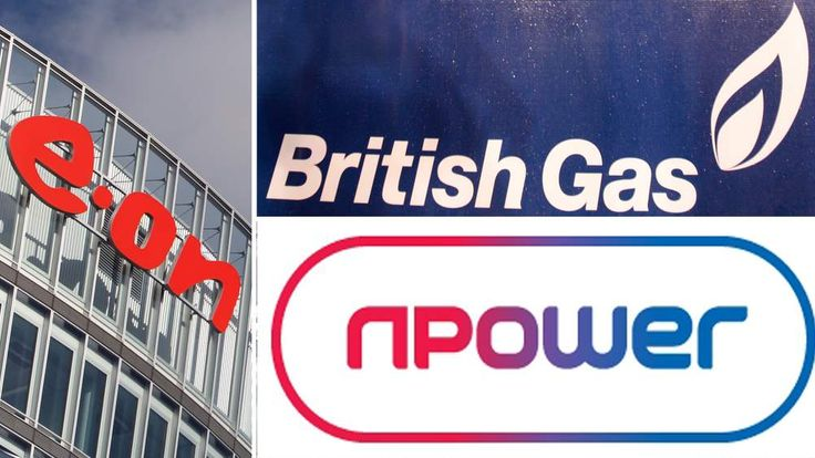 E-on, British Gas and Npower logos