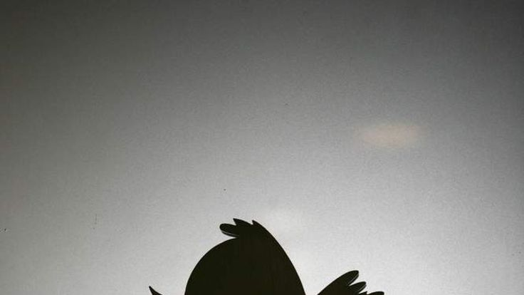 Twitter logo is displayed at the entranc
