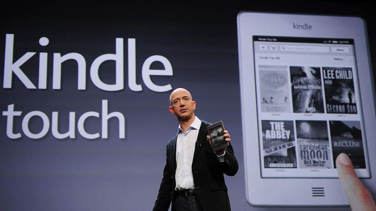 Amazon CEO Jeff Bezos introduces the new Kindle Touch in New York, September 28, 2011.