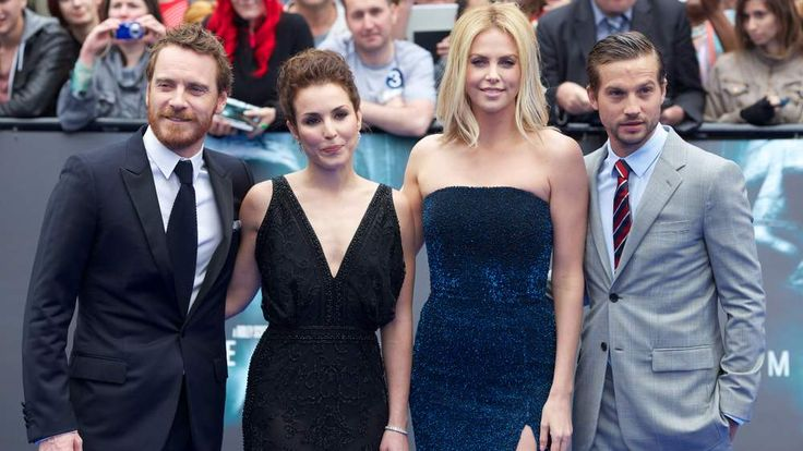 Prometheus stars Michael Fassbender, Noomi Rapace, Charlize Theron and Logan Marshall-Greenpose