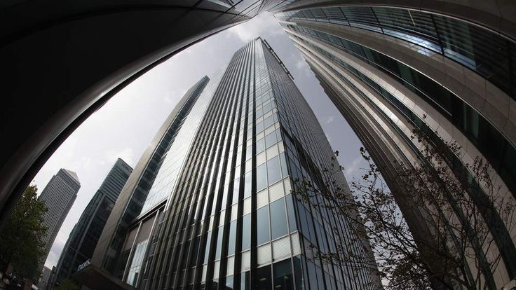 The Canary Wharf headquarters of Barclays Bank