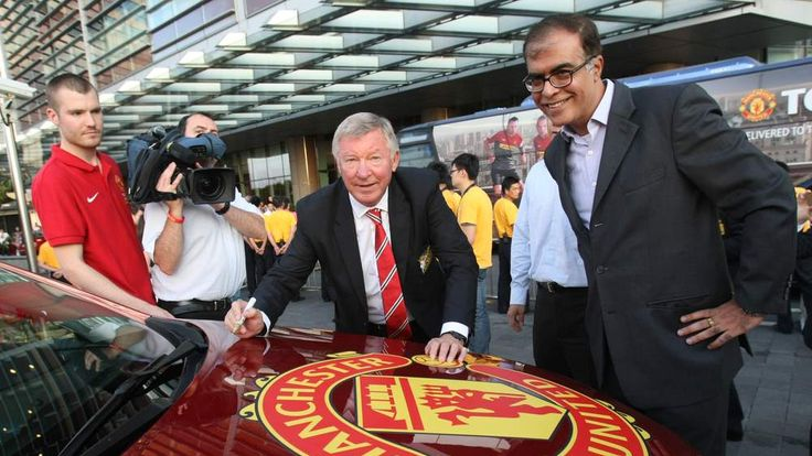 Manchester United manager Sir Alex Ferguson at Chevrolet event in Shanghai