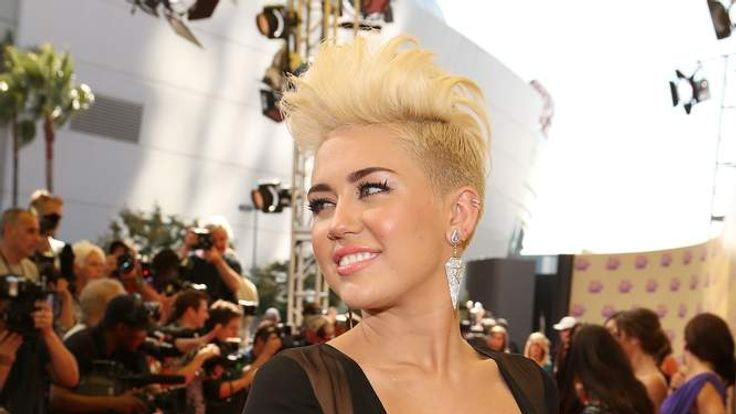 Miley Cyrus at the MTV Video Music Awards in September 2012