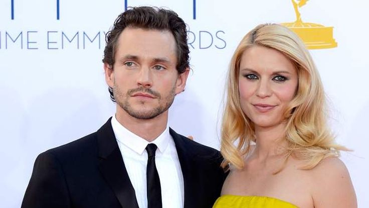 Claire Danes and Hugh Dancy at the Emmys in September 2012