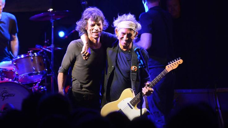 Mick Jagger and Keith Richards of The Rolling Stones perform at a secret club gig for 600 lucky fans as the band warm up for their 4 dates in London and New York next month.