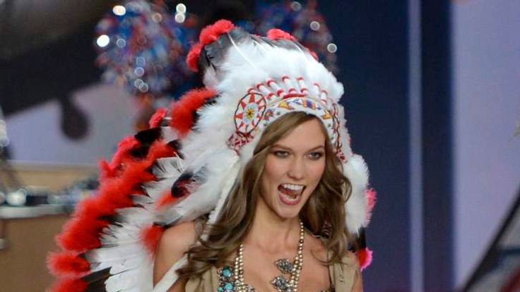 US Victoria's Secret Native American Headdress UNTREATED