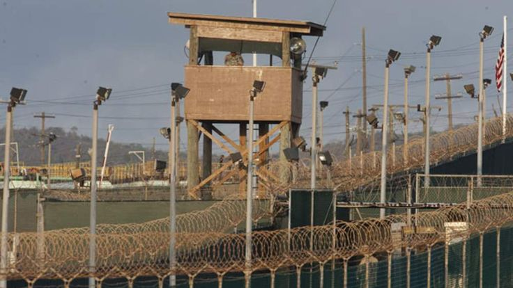 One of a series of photos showing detainees and conditions at Camp VI, part of the US Detention Center at Guantanamo Bay, Cuba