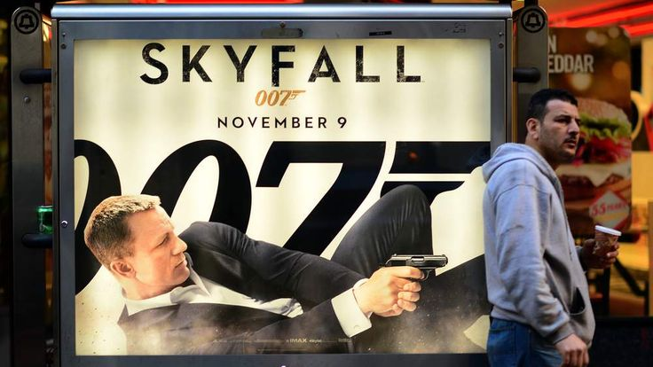 Poster for James Bond movie Skyfall