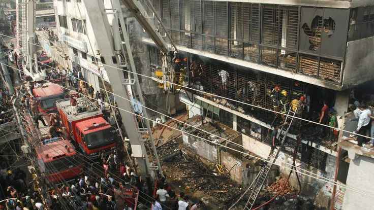 Bangladeshi firefighters
