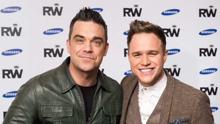Robbie Williams (left) and Olly Murs