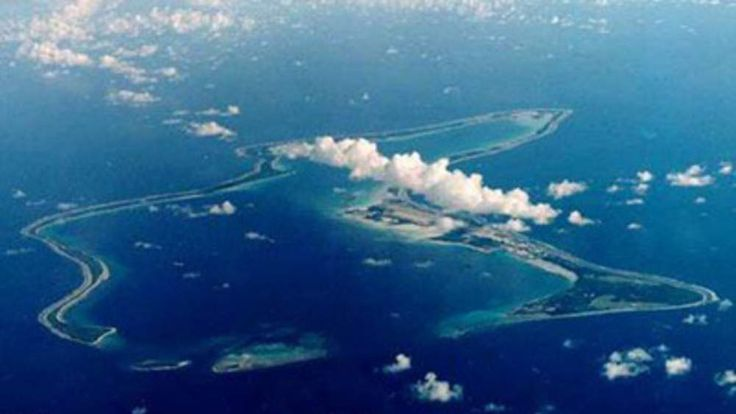 The Chagos Islands in the Indian Ocean where the local inhabitants were kicked out of their homes to make way for a US airbase