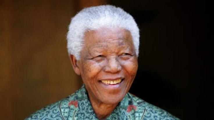 Fomer South African President Nelson Mandela