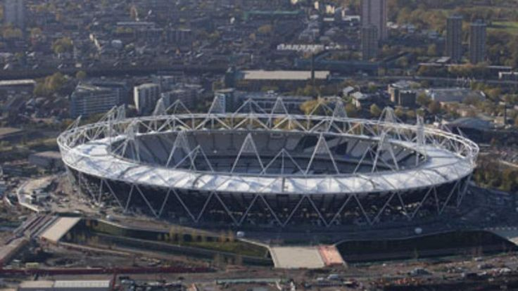 The Olympic Stadium of the London 2012 Games, under construction on November 10, 2010