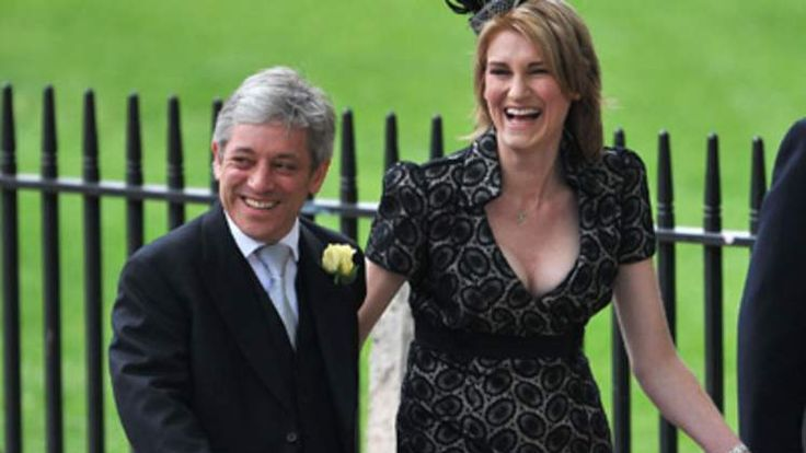 Commons Speaker John Bercow and his wife Sally Bercow arrive at Westminster Abbey.