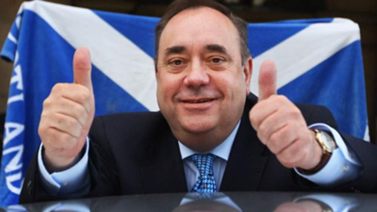Alex Salmond celebrates the SNP success in the May 5 elections