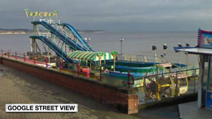View of Bridlington's Jungle River log flume (Google Street View)