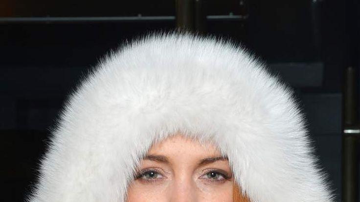 Lindsay Lohan poses in New York