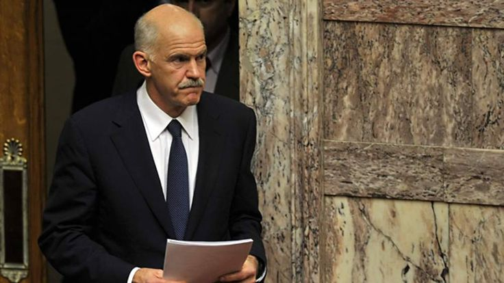 George Papandreou arrives at Greek parliament