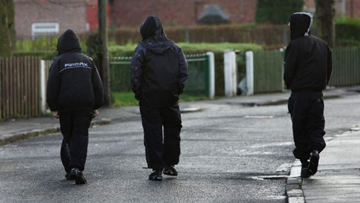 Teenagers on a Manchester estate