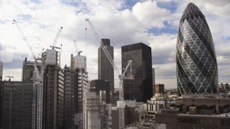 Sir Norman Foster Building and cityscape