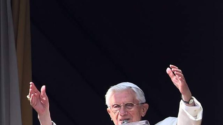 Pope Benedict XVI Delivers Angelus Blessing