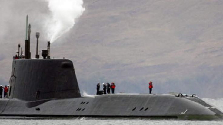 HMS Astute was on sea trials when it became stuck near Skye on October 22, 2010