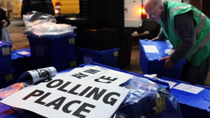 Ballot boxes ready to be sent to polling stations