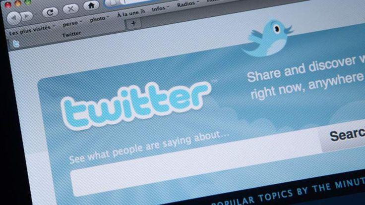 Homepage of microblogging website Twitter generic