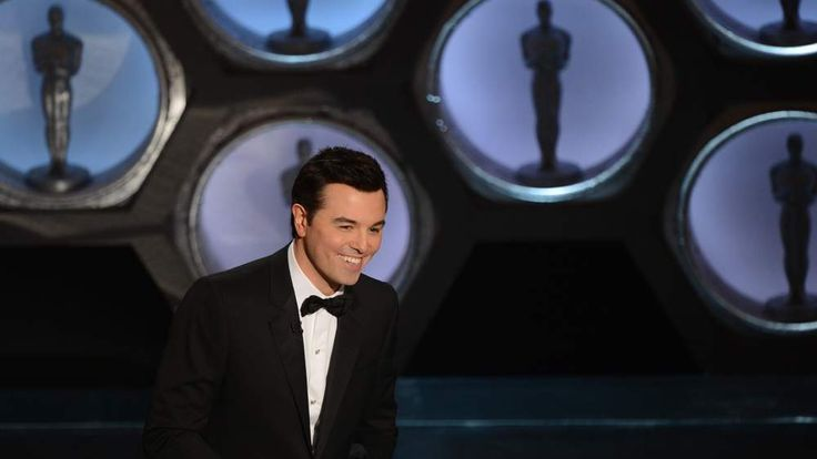 Host Seth MacFarlane speaks on stage at the 85th Academy Awards