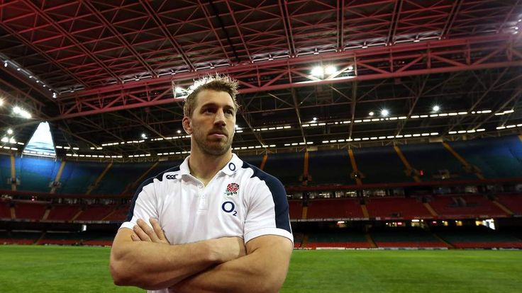 Chris Robshaw, the England captain, poses after the England captain's run at the Millennium Stadium