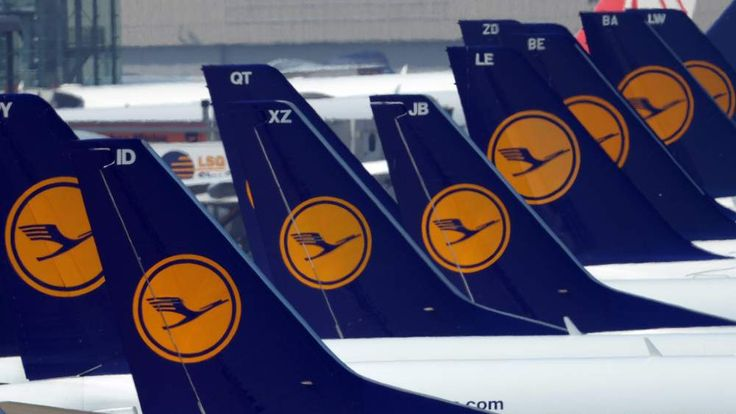 The Lufthansa plane was flying from Frankfurt to Heathrow.
