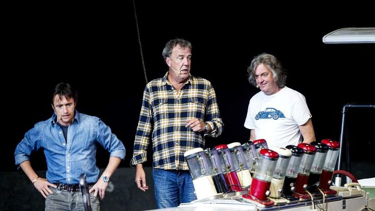 The stars of BBC motoring show Top Gear