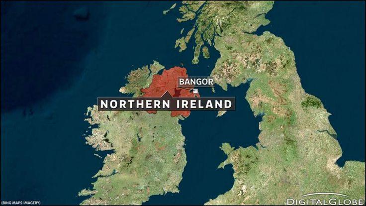 Map of Bangor, Northern Ireland