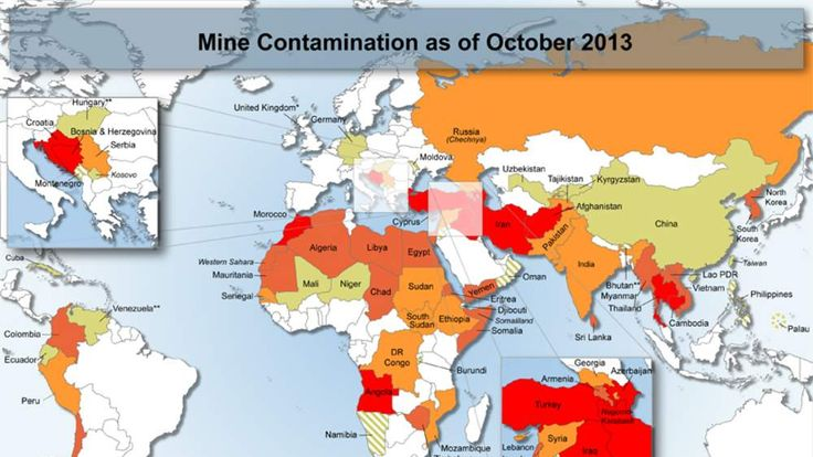 Mine Contamination as of October 2013