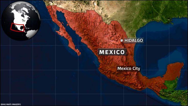 Map showing Hidalgo, Mexico