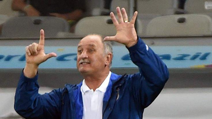 Luiz Felipe Scolari During Brazil Defeat To Germany