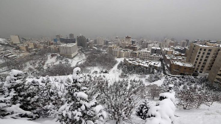 Heavy snowfall in Iran